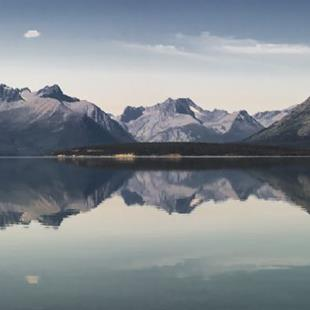 Art: Reflections on Bennet Lake, British Columbia by Artist Richard Holland