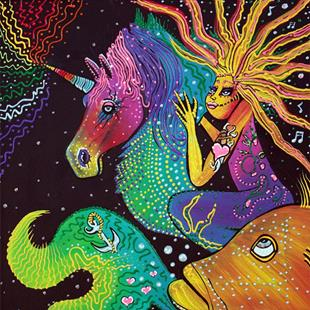 Art: Ride The Rainbow by Artist Laura Barbosa