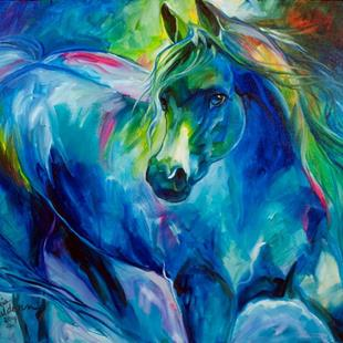Art: ARABIAN BLUES by Artist Marcia Baldwin