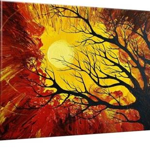 Art: The Radiant Warmth Canvas Print (sold) by Artist Amber Elizabeth Lamoreaux