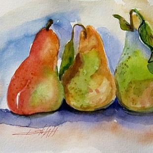 Art: Three Pears by Artist Delilah Smith