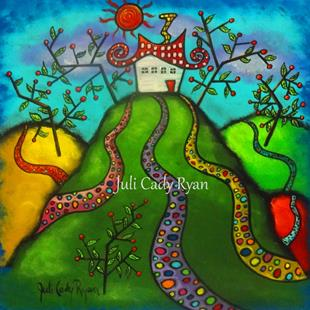 Art: All Roads Lead Home by Artist Juli Cady Ryan