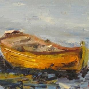 Art: Row Boat No. 3 by Artist Delilah Smith