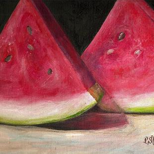 Art: A Healthy Choice, Watermelon by Artist Penny StewArt
