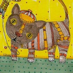 Art: My Floating Cat Toy-Sold by Artist Sherry Key