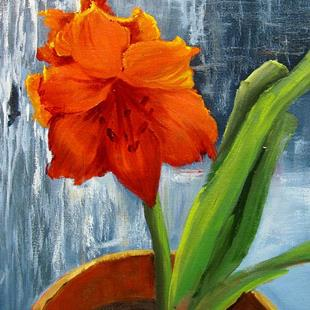 Art: Nats Red Amaryllis by Artist Barbara Haviland