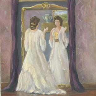 Art: The Petticoat Mirror by Artist Shirley James