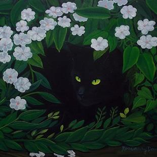 Art: HIDEAWAY CAT Sold by Artist Rosemary Margaret Daunis