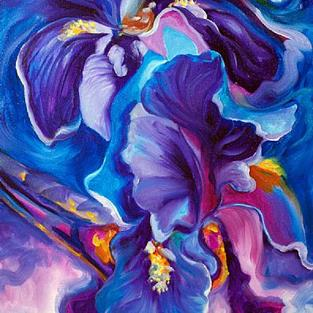 Art: The Shadow of Your Smile ~ IRIS ABSTRACT by Artist Marcia Baldwin