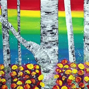 Art: Rainbow Forest by Artist Laura Barbosa
