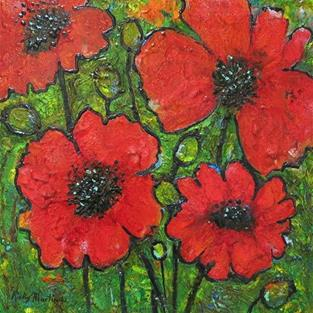 Art: Poppies by Artist Ulrike 'Ricky' Martin
