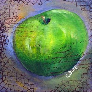 Art: Green Apple by Artist Claire Bull