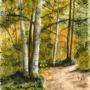 Art: Forest Path by Artist Janet M Graham