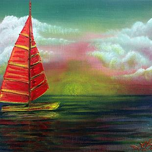 Art: Sail The Horizon by Artist Laura Barbosa