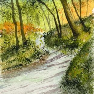Art: Forest Road ACEO by Artist Janet M Graham