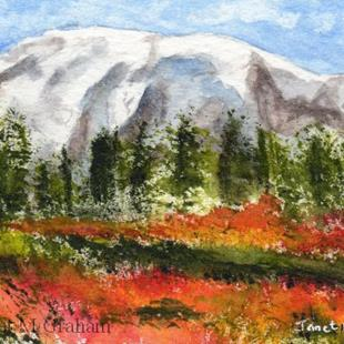 Art: Spingtime ACEO by Artist Janet M Graham