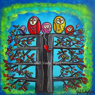 Art: The Owl Family II by Artist Juli Cady Ryan