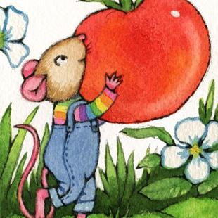 Art: Tomato Harvest ACEO - Available by Artist Carmen Medlin