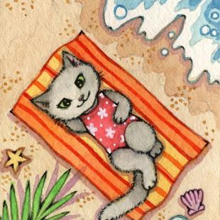 Art: Escape ACEO by Artist Carmen Medlin