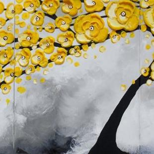 Art: Yellow Serenity (sold) by Artist Amber Elizabeth Lamoreaux
