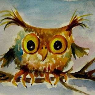 Art: Wise Owl by Artist Delilah Smith
