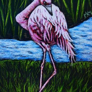 Art: Flamingo  (SOLD) by Artist Monique Morin Matson