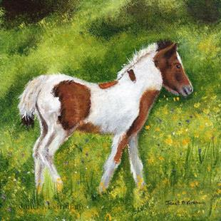Art: Foal by Artist Janet M Graham
