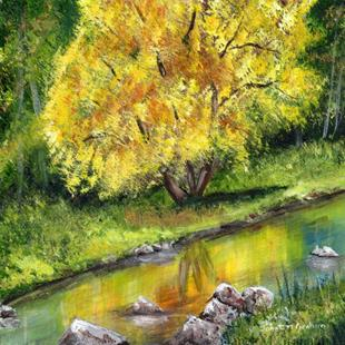 Art: Autumn Tree by Artist Janet M Graham