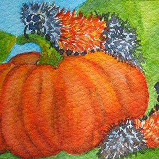 Art: Woolly Bears (SOLD) by Artist Monique Morin Matson