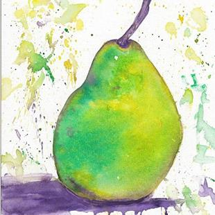Art: Green Pear by Artist Ulrike 'Ricky' Martin
