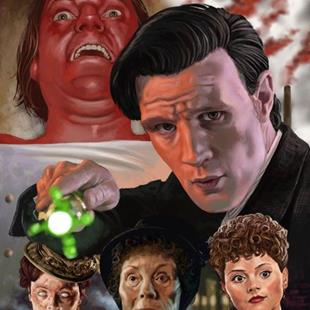 Art: Doctor Who :The Crimson Terror by Artist Mark Satchwill