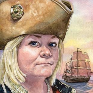 Art: Pirate Ann, Queen of the High Teas by Artist Mark Satchwill