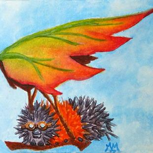 Art: Preparing For Wings (SOLD) by Artist Monique Morin Matson