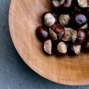 Art: Chestnuts on Maple by Artist Gabriele Maurus