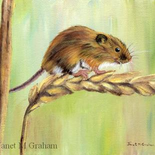 Art: Field Mouse by Artist Janet M Graham