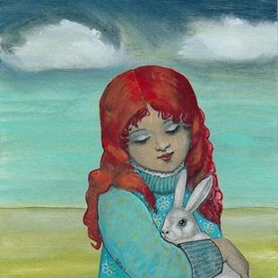 Art: The Bunny Rescue-Sold by Artist Sherry Key