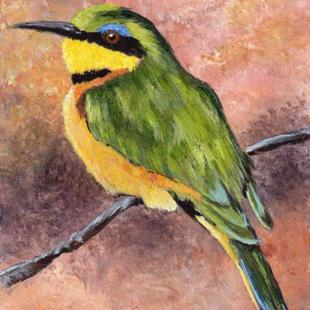 Art: Little Bee Eater ACEO by Artist Janet M Graham