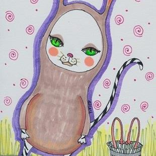 Art: Bunny Cat by Artist Sherry Key