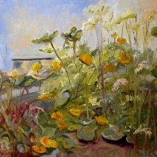 Art: Squash Blossoms by Artist Delilah Smith