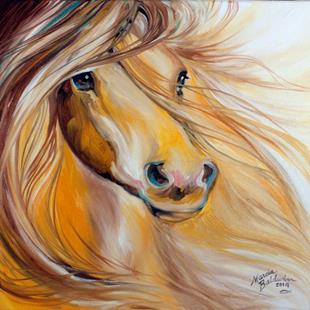 Art: GOLDEN SUNSHINE EQUINE by Artist Marcia Baldwin