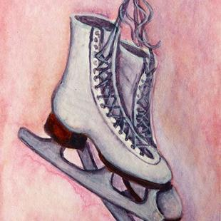 Art: Ice Skates  (SOLD) by Artist Monique Morin Matson