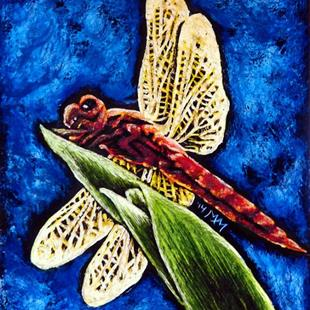 Art: Dragonfly  (SOLD) by Artist Monique Morin Matson
