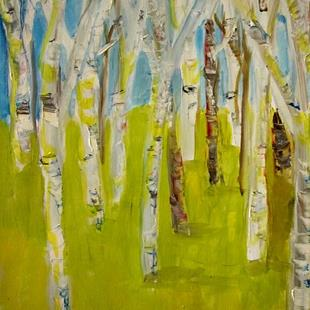 Art: White Birch-sold by Artist Delilah Smith