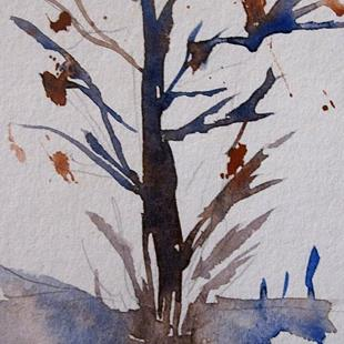 Art: Fall Tree by Artist Delilah Smith