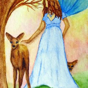 Art: Nature Fairy by Artist Monique Morin Matson