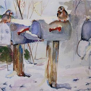 Art: Winter Mail by Artist Delilah Smith