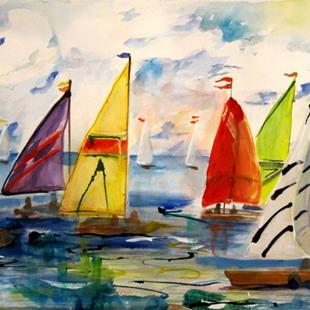 Art: A Colorful Sail by Artist Delilah Smith