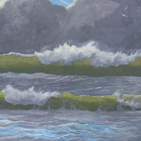 Art: Dark Clouds Over The Sea by Artist Carol Thompson