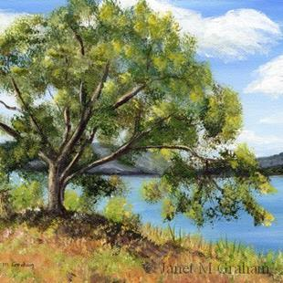 Art: Lakeside Tree by Artist Janet M Graham