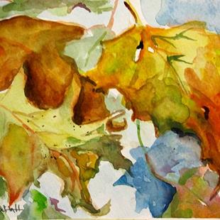 Art: Fall Leaves by Artist Delilah Smith